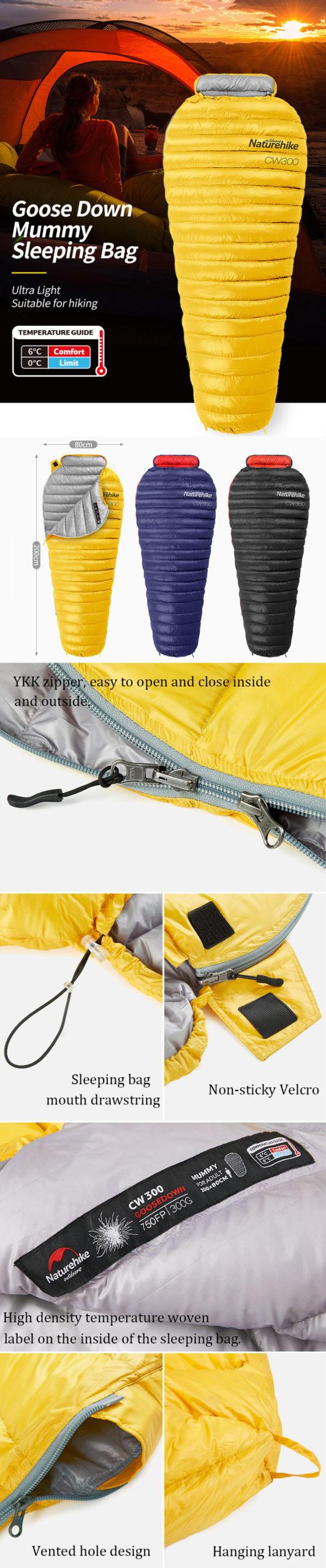 goose down sleeping bag features