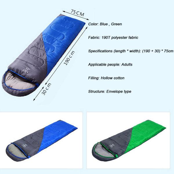 sleeping bag details