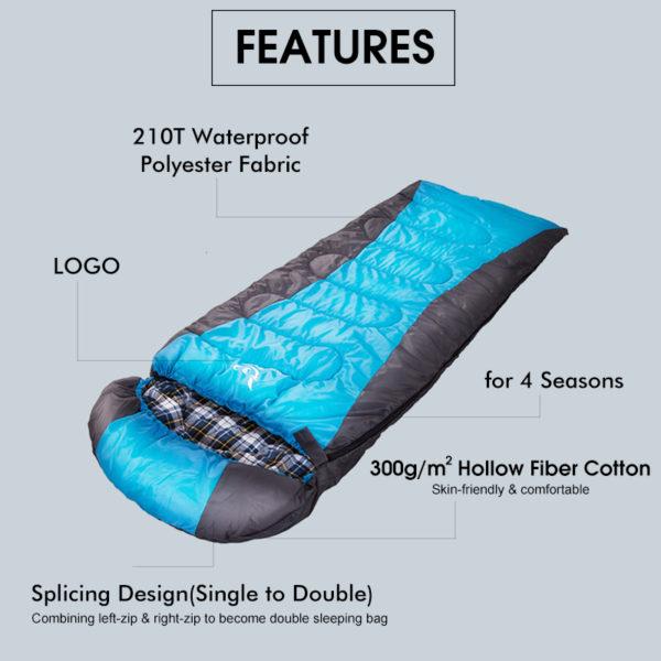 winter sleeping bag features